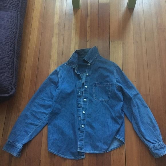 974cb1281be GAP Tops   Denim Jean Shirt Button Up Top Vintage Jacket   Poshmark